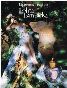 PUBLICITE ADVERTISING 105  2002  LOLITA LEMPICKA  PREMIER PARFUM FEMME