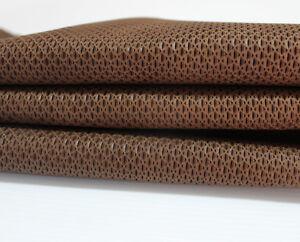 Italian Goatskin leather skin hide BROWN EYE ATTRACTION EMBOSSED 4+sqf #A3000
