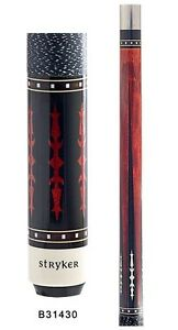New Stryker Blue Billiard Pool Cue Stick with Diamond Graphics Free Shipping