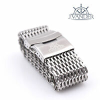 J.VANDER 4mm Thick Shark Mesh Watch Band Stainless Steel Diver Heavy 18 20 22 24