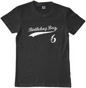 Image Is Loading Threadrock Kids Birthday Boy 6 Year Old Youth
