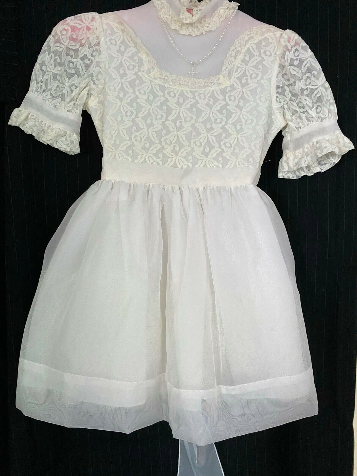 Hollywood Girl's White Formal Dress, Confirmation, Clean, See Descrip.for Dimen.