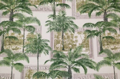 RICHLOOM KEY BISCAYNE PALM GREEN OUTDOOR INDOOR FURNITURE FABRIC BY THE YARD