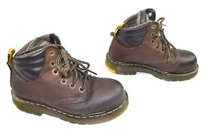 878ac19f6a096d Dr. Martens Unisex Hynine Steel Toe 6 Tie Brown Leather Grip Trax ...