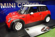 MINI COOPER rouge red/toit blanc 1/18 AUTOart 74822 voiture miniature collection