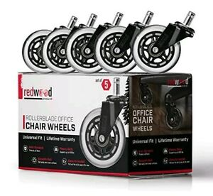 2X 10 REDWOOD Office Chair Caster Wheels Replacement HEAVY DUTY Universal 650LBS