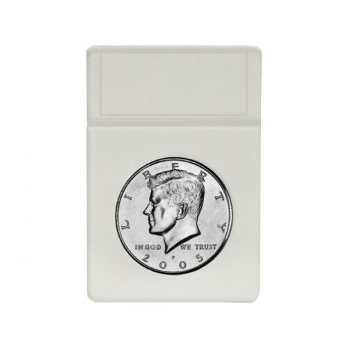 100 BCW WHITE DISPLAY FOAM INSERT HALF DOLLAR COIN SIZE SLAB HOLDERS