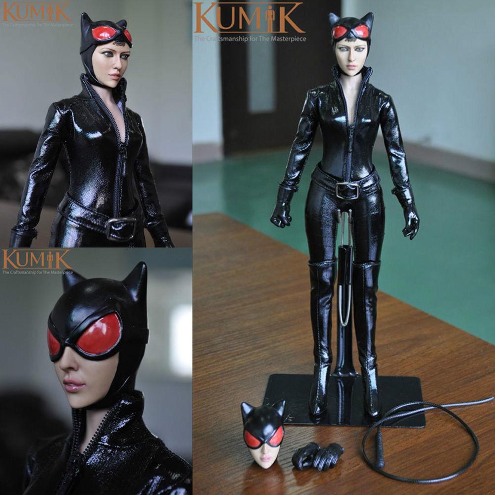 1   6 catwoman action - figur kumik spielzeug frauen mädchen weiblichen körper anzug kmf029