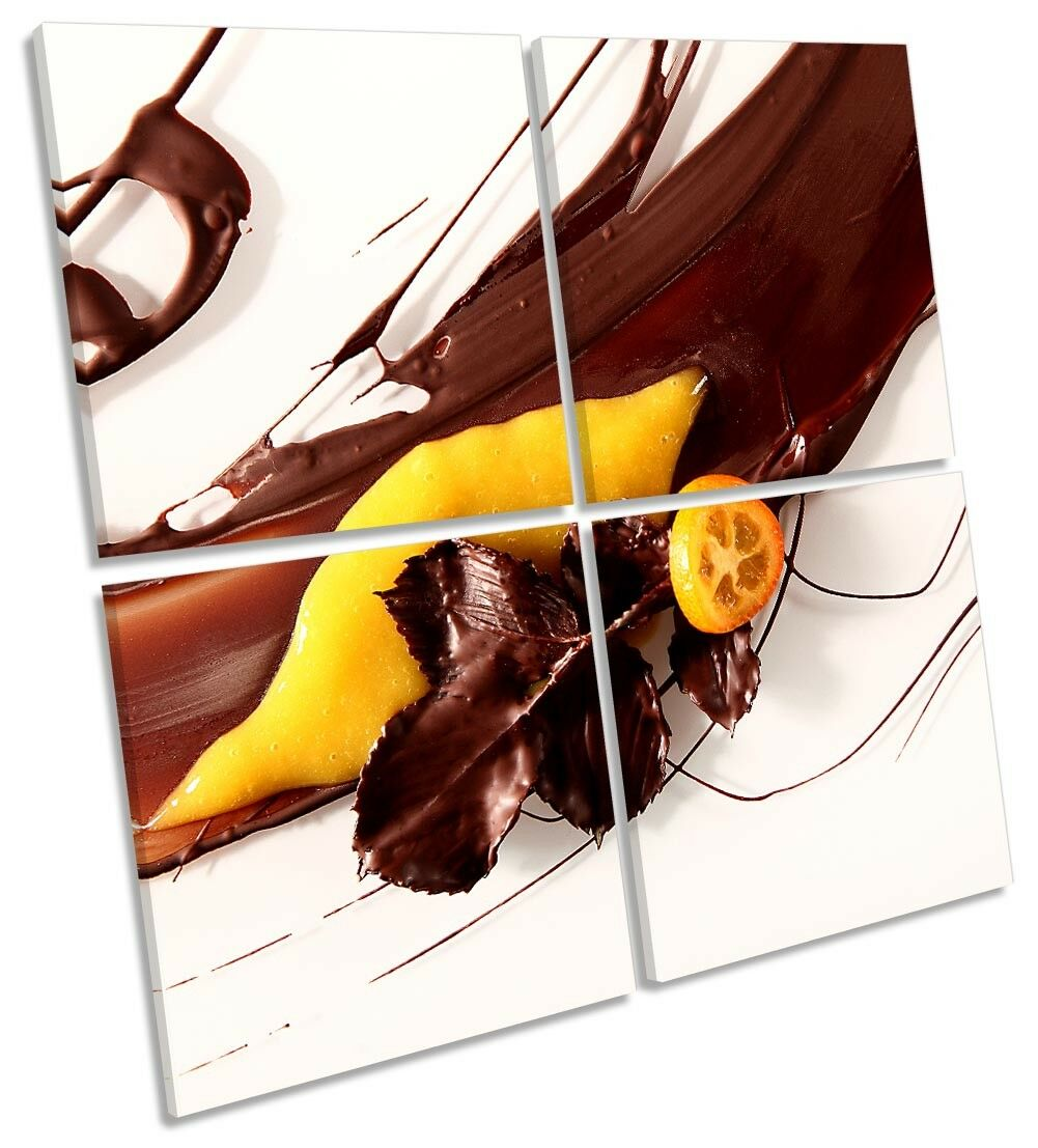 Abstract Chocolate Lemon Picture MULTI CANVAS WALL ART Square