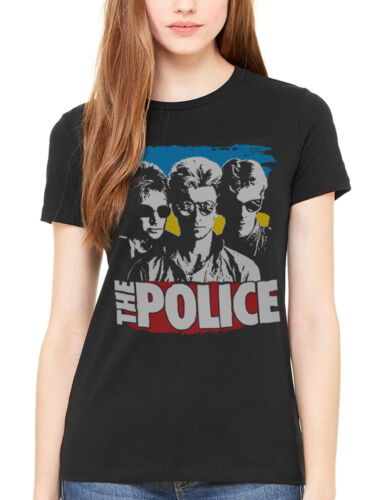 Official The Police The Greatest Women/'s Fitted T Shirt Rock Band Sting
