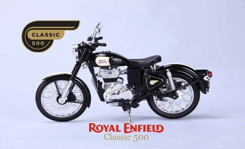 Maisto Royal Enfield Bike Classic 500 Scale Model 1 by 12 Die Cast