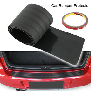 For-Car-SUV-Rear-Trunk-Sill-Plate-Bumper-Guard-Protector-Rubber-Pad-Black-New