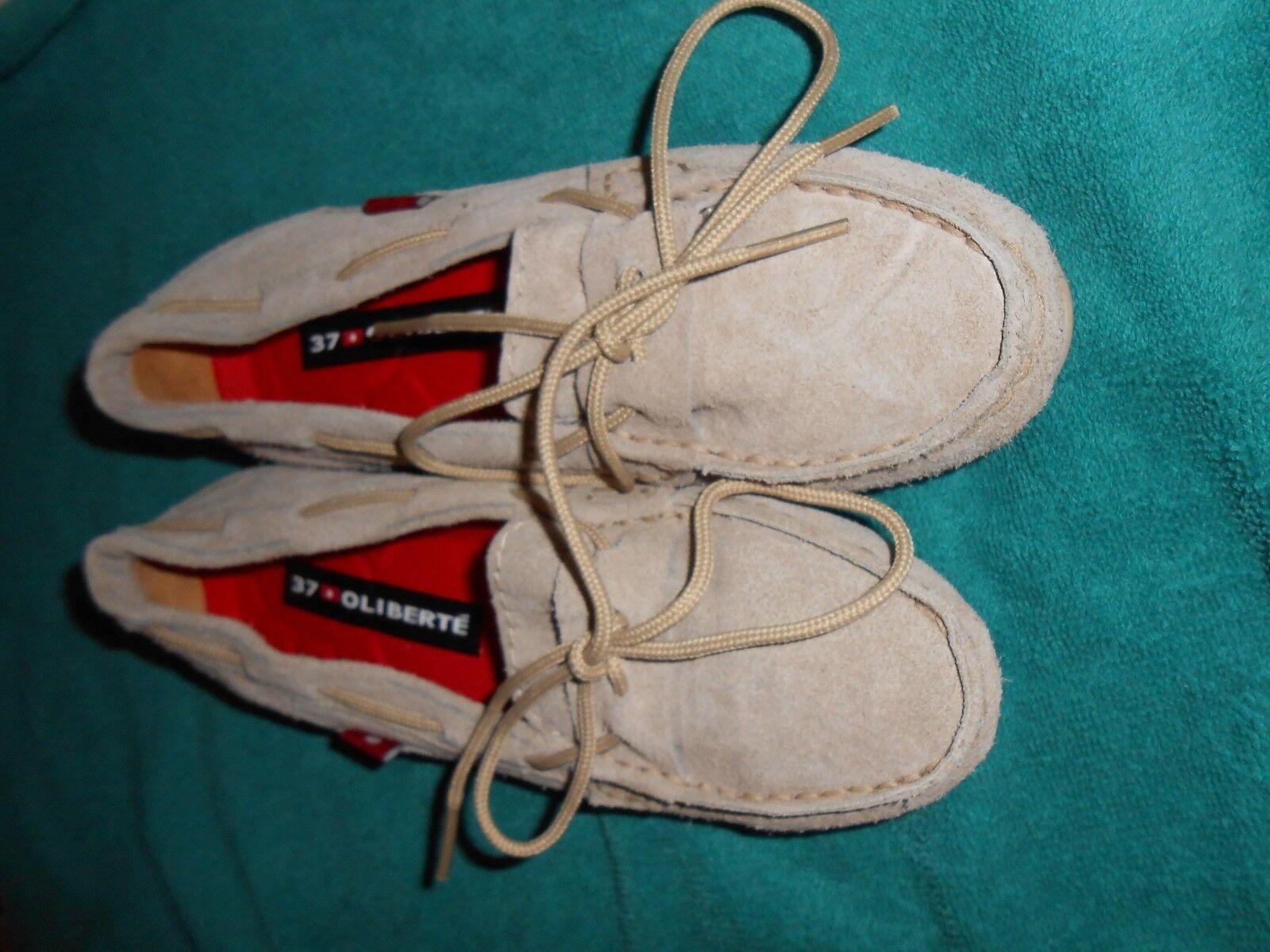 Oliberte Tan Suede Niami Cuir Bateau chaussures Flats Affichage Taille 7 M NEUF sans boîte