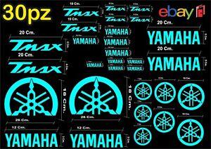 MAXI-KIT-30-PEZZI-SERIE-DI-ADESIVI-YAMAHA-TMAX-T-MAX-500-530-COLORE-CELESTE