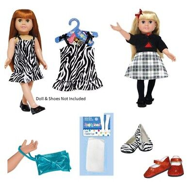 """SF Springfield SET 4 Piece Lot Outfits for 18/"""" American Girl Doll Dress Clothes"""