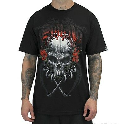 SPRING '14 SULLEN CLOTHING DEATH BADGE SKULL PAINT INK ART TATTOO T SHIRT S-5XL