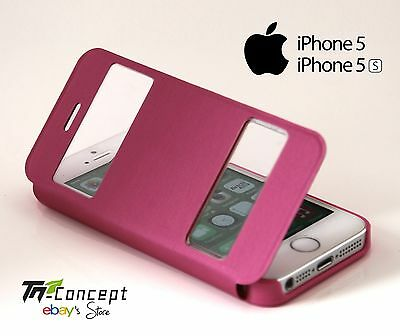 Housse / Coque / Etui à rabat - Apple Iphone 5 / Iphone 5S - ROSE - Neuf