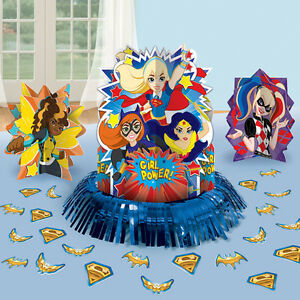 DC Super Hero Girls Table Decorating Kit 23 Piece Centerpiece Party ...