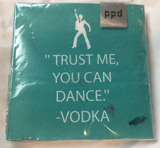 PPD Pack of 20 Cocktail Napkins / Serviettes 3ply Vodka Did! 25cm x 25cm