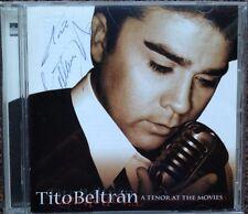 Signed! TITO BELTRAN: A TENOR AT THE MOVIES Opera Latin CD 1998 Film Mario Lanza
