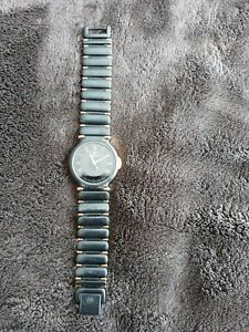 Womens-Blue-And-Gold-Stainless-Steel-Movado-Watch