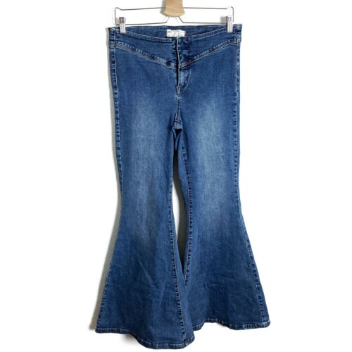 Free People Womens Jeans Bell Bottoms Flares Wide