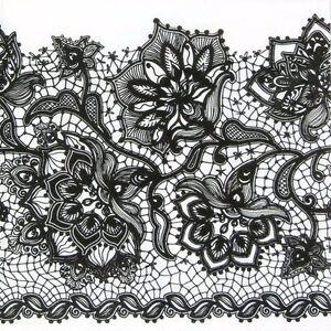 4x-Paper-Napkins-for-Decoupage-Gloria-Lace-Black-on-White