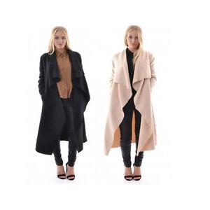 Women-039-s-Ladies-Long-Coat-Jacket-Trench-Windbreaker-Parka-Outwear-Cardigan
