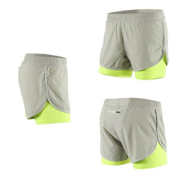 Damen Running Shorts 2 in 1 Outdoor Sports Fitness Training Running Shorts
