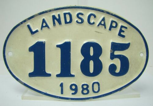 Embossed 1980 Landscape License Plate landscape 1185 1980 metal blue white oval