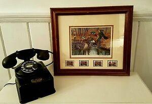 1990-Waterfowl-Duck-Stamp-Wildlife-Mallard-Signed-Print-Ltd-Ed-Bird-Watching-NJ
