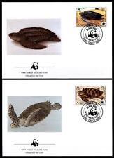 WWF Schildkröten. 4 FDC. Anguilla 1983