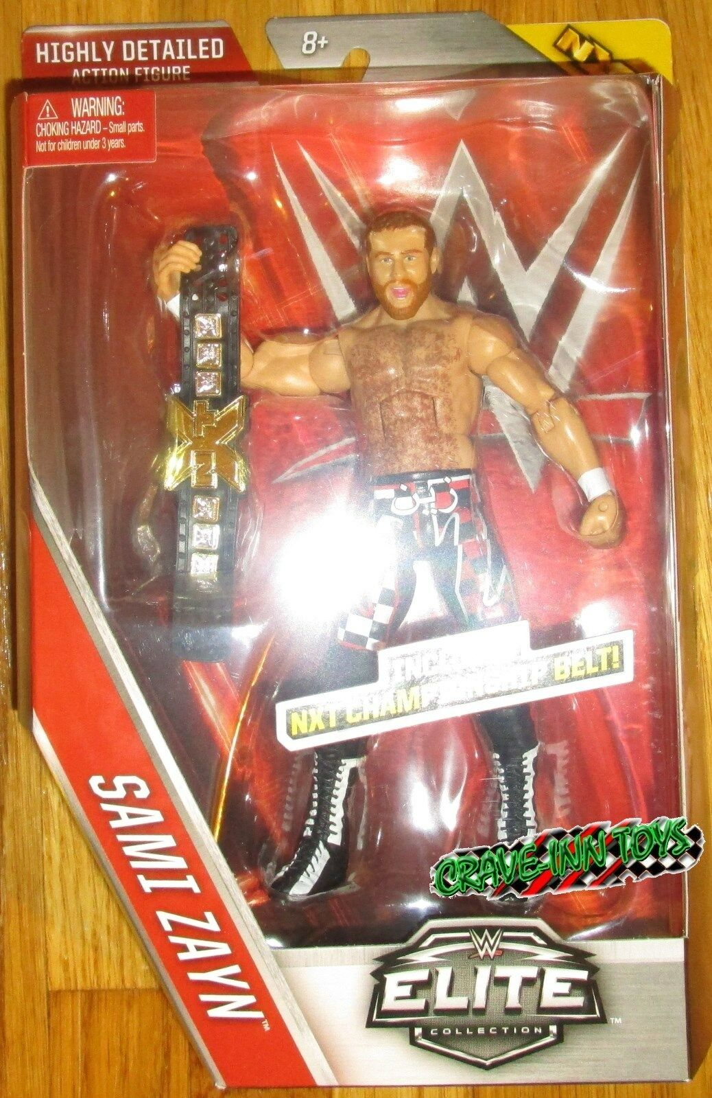 WWE ELITE SAMI ZAYN FIGURE SERIES 40 NXT CHAMPIONSHIP BELT 2015