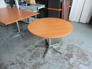 OFFICE-1000MM-ROUND-TABLE-CHERRY-BRISBANE