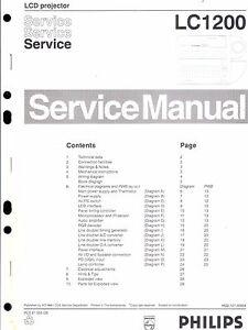 Philips Original Service Manual Für Lcd-projektor Lc 1200 StäRkung Von Sehnen Und Knochen Tv, Video & Audio
