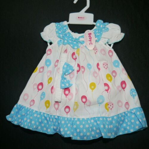 74,80,86 Mädchen Sommer Kleid Luftballon  Gr süßes 3 tlg