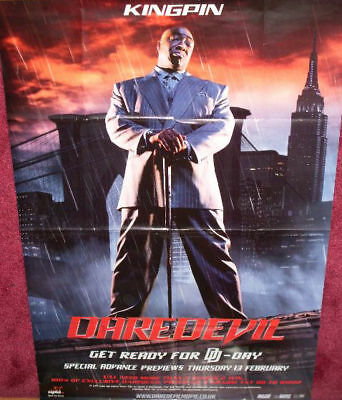 Cinema Poster Daredevil 2003 Kingpin One Sheet Ben Affleck Ebay
