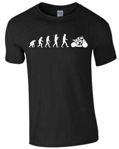 Moto Evolution moto t-shirt homme shirt hommes Biken Bike s393