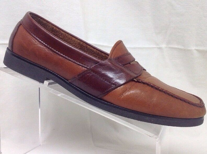Dexter Mens Tutone Leather Penny Loafers 11.5 M F3