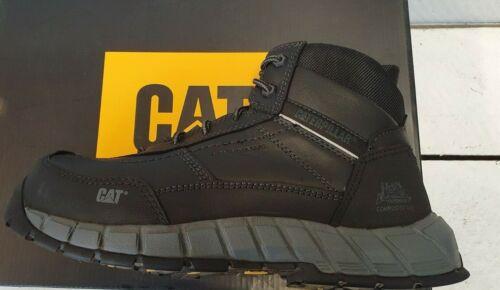 Mens CAT P722540 optimizar negro a mediados de Compuesto Puntera Con Cordones Botas De Trabajo