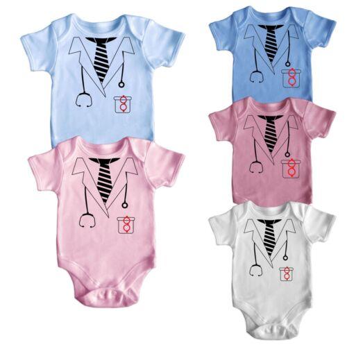 Doctor Fancy Dress Short Sleeve Baby Boy Girl Rompers Baby Grows Newborn 0-18M 2