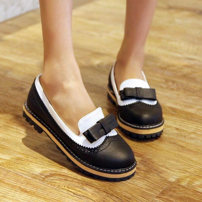 Womens Girls Flat Oxfords Vintage Vintage Oxfords Sweet Boat Retro Shoes Bowktie Brogue  Autumn bcd4eb