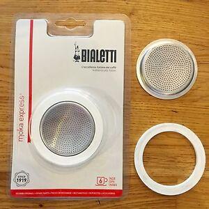 Bialetti Moka Express 6 Cup Seal Filter Kit Coffee Replacement Fiammetta