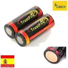 2X PILA RECARGABLE 26650 5000mAh Li-ion 3,7V TrustFire Litio Batería Protección
