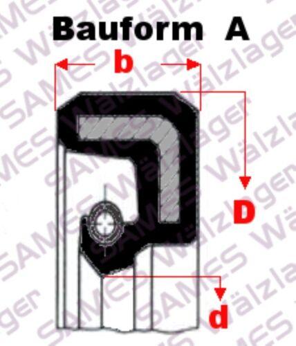 Simmerring Wellendichtring BA,DA,SC,WA,827N Oil-Seal 1 Stück 80x100x13 A =