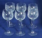 Beautiful Set of 6 Tall Cut Glass / Crystal Wine Glasses. Height: 18 cm.