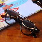 Hot Steampunk Goth Goggles Glasses Retro Flip Up Round Sunglasses Vintage NEW #