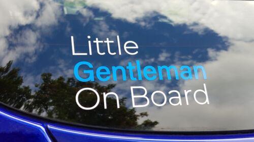 Little Gentleman On Board Decal Sticker Baby On Board