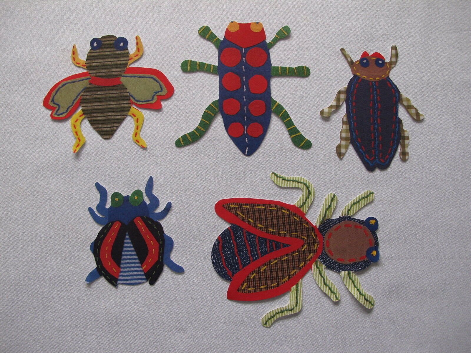 Pottery barn kids Set of 25 Max BUGS WALLIES Wall Art Decor Cutouts NEW Rare
