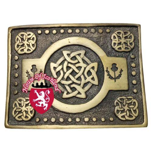 Hs Homme Highland Boucle de Ceinture Kilt Noeud Celtique Antique Écossais